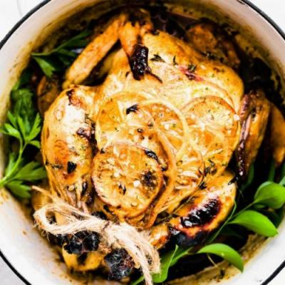 Orange Honey Garlic Roasted Chicken