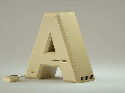 Popular Electronics Brands Rendered as an Alphabet of Stylish Products
