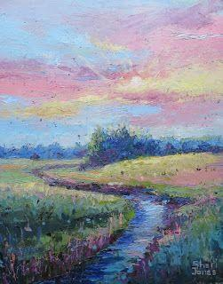 Early Light, New Contemporary Landscape Painting by Sheri Jones