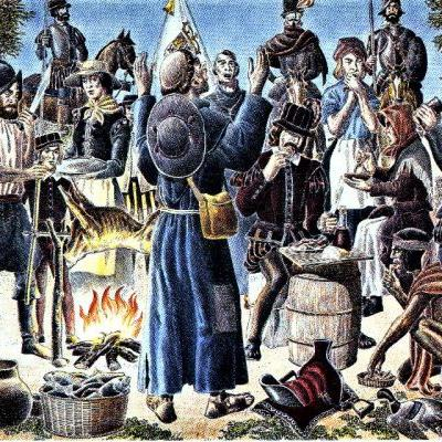 1598 Colonial Thanksgiving on the Rio Grande in Texas