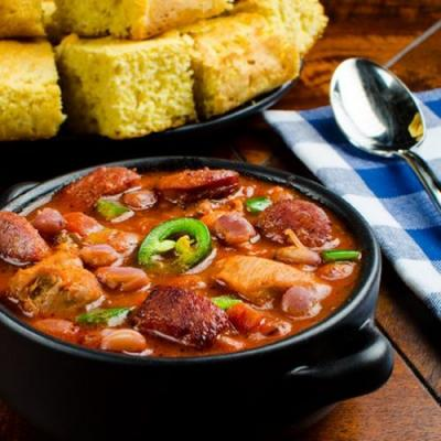 Cajun Chicken and Andouille Chili