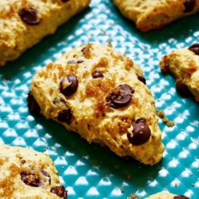 Vegan Chocolate Chip Cookie Scones
