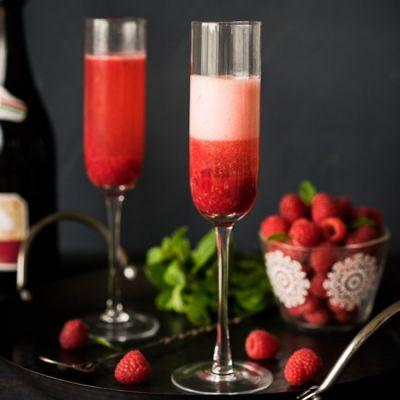 Raspberry Sparkling Cocktail
