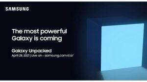 Samsung announces upcoming Galaxy Unpacked event on April 28