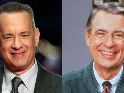 Here's a first look of Tom Hanks as Mister Rogers