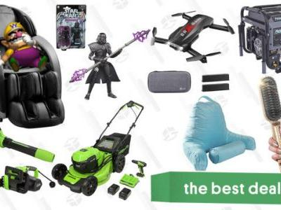 Sunday's Best Deals: Pulsar Heavy-Duty Generator, Insignia Massage Chair, Star Wars Action Figures, Holy Stone Drone, Greenworks Outdoor Power Tools, and More