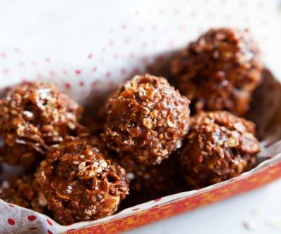 Nutella Oat Crunch No-Bake Cookies