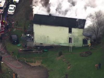 LIVE: Firefighters battling smoky house fire in North Versailles. WATCH:
