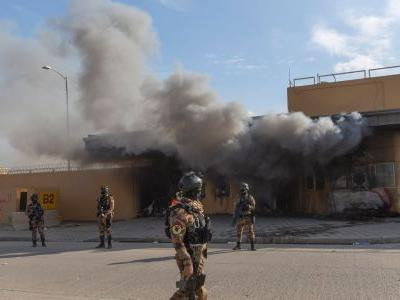Rockets struck the US Embassy compound in Baghdad, according to reports