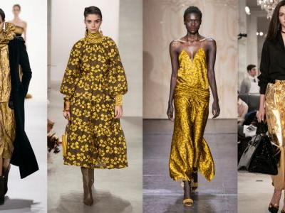 Gold Is Covering the Fall 2019 Runways