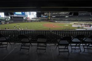 Baseball players get a peek at playing without fans