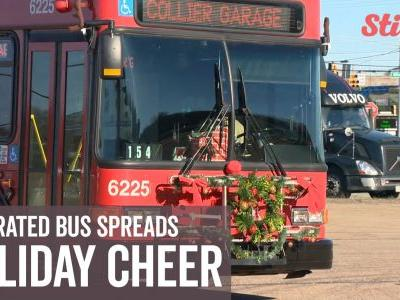 Bus driver transforms her bus into a Christmas wonderland on wheels