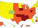Obesity map reveals more than 35 percent of people in seven US states are dangerously overweight