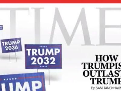 Trump tweeted an edited Time magazine video showing him as president '4eva'