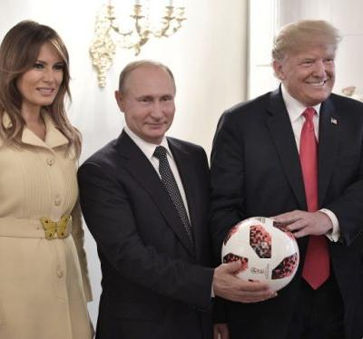 What a soccer ball said about Putin's meeting with Trump in Helsinki