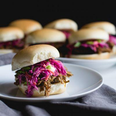 Coffee Rubbed Pulled Pork Sliders