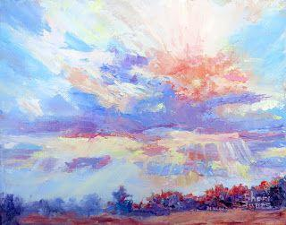 A Ray of Sunshine, New Contemporary Landscape Painting by Sheri Jones