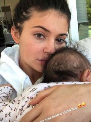 """Kylie Jenner Shows Off Her """"Messy Hair"""" and Gorgeous Freckles on Instagram With Stormi"""