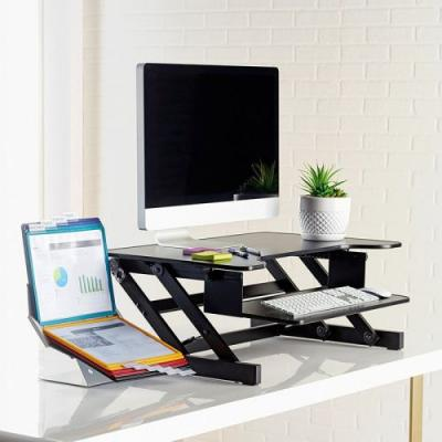 Level up your workspace with the $127 Lorell Sit-to-Stand Monitor Riser