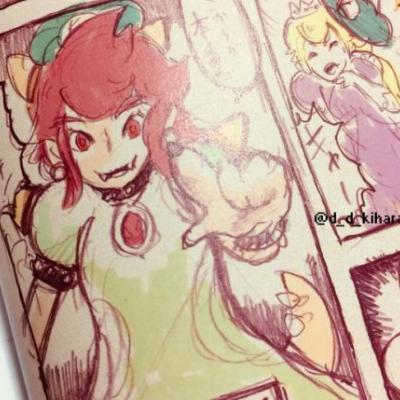 The Art of Super Mario Odyssey Art Book includes 'Peach Bowser' artwork