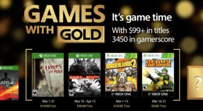 Free Xbox Games With Gold For March 2017 Includes Evolve, Borderlands 2