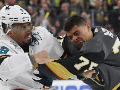 NHL playoffs 2019: Evander Kane leaves Sharks' Game 4 loss after vicious jab to Golden Knights' Colin Miller