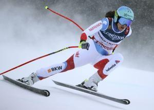 Siebenhofer leads Alpine combined, Holdener close in 5th