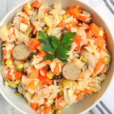 Vegetable Salad with Rice