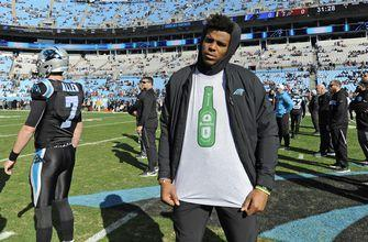 The Latest: Taylor Heinicke gets start with Cam Newton out