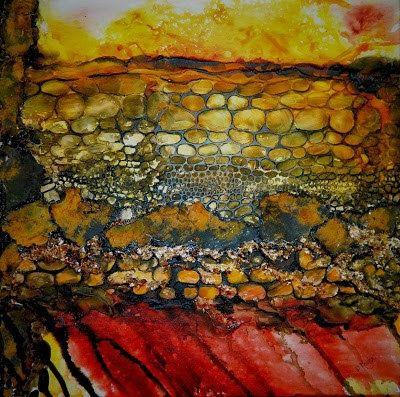"Original Abstract Mixed Media Painting, ""Uncaged"", by Colorado Artist, Donna L. Martin"