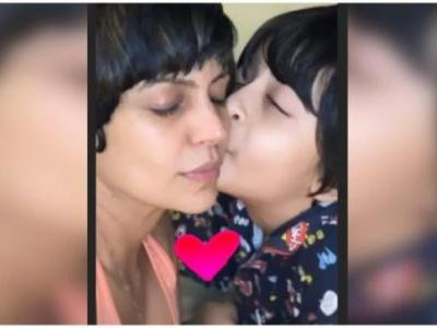 Have you seen this new picture of Mandira Bedi and her son Vir? It's adorable