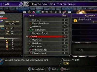 Where To Find 8 Bit Coins In Bloodstained Ritual Of The Night
