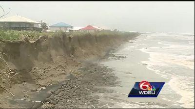 Multimillion dollar levee significantly damaged by Tropical Storm Cindy
