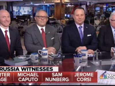Surreal MSNBC panel Featuring Nunberg, Page, Caputo and Corsi Gets Roasted: 'Which One is Shemp?'