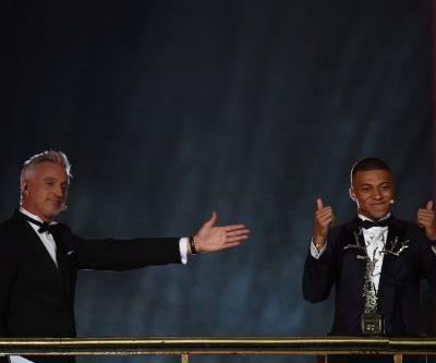 Kylian Mbappe wins best young player prize at Ballon d'Or ceremony