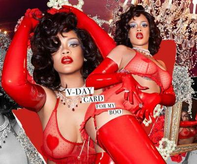 Rihanna wears over $130K in rubies in Savage X Fenty Valentine's Day shoot