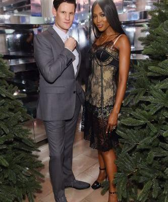 Matt Smith & Naomi Campbell Celebrate Burberry Holiday '18 Campaign