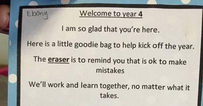 This teacher welcomed her new students with a heartwarming poem