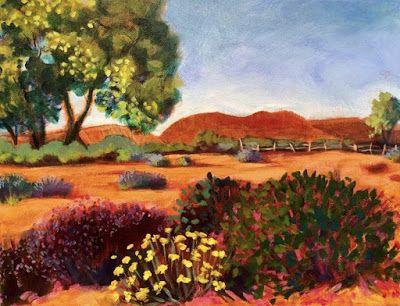 "Contemporary Bold Expressive Landscape Art Painting ""Abiquiu Views"" by Santa Fe Artist Annie O'Brien Gonzales"