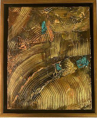 """Mixed Media Art, Organic Abstract, Contemporary Art, """"Off The Grid"""" by Texas Contemporary Artist Sharon Whisnand"""