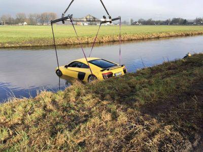 New Audi R8 V10 Plus Goes Swimming In A River