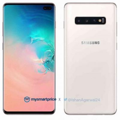 Samsung Galaxy S10+ renders show Luxurious Ceramic White color option