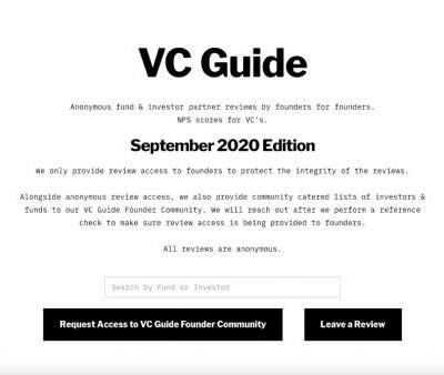 Anonymous founders are posting brutal reviews of venture capitalists on VC Guide, a website that wants to become the NetPromoter for VCs