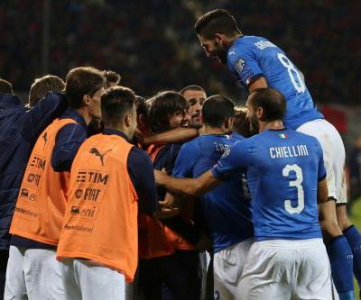 Italy beats Albania 1-0 to secure top seed status in playoff