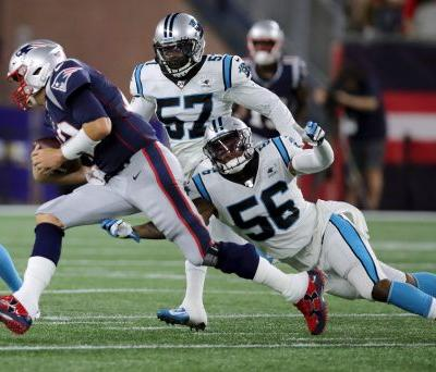 Brady passes, scrambles Patriots past Panthers 10-3