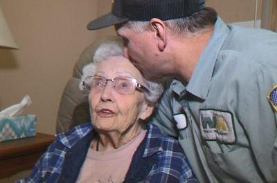 'She was my last stop': Garbageman saves 93-year-old from creeping wildfire by pulling her into truck
