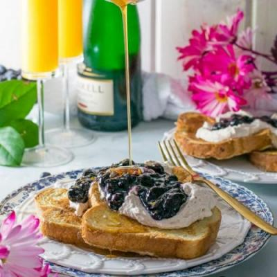 Earl Grey French Toast with Compote