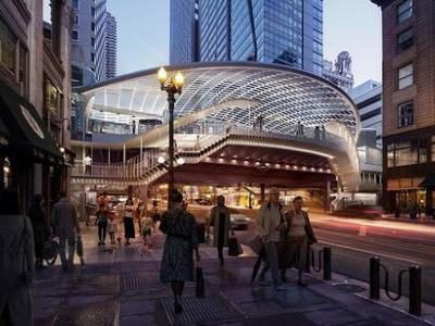 SOM and TranSystems Redesign Chicago's Oldest Elevated Rail Station
