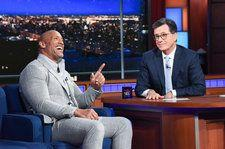 Dwayne Johnson Serenades Stephen Colbert Over a Bottle of Tequila: Watch