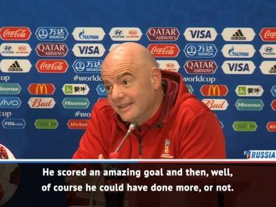 Messi was amazing at World Cup - Infantino